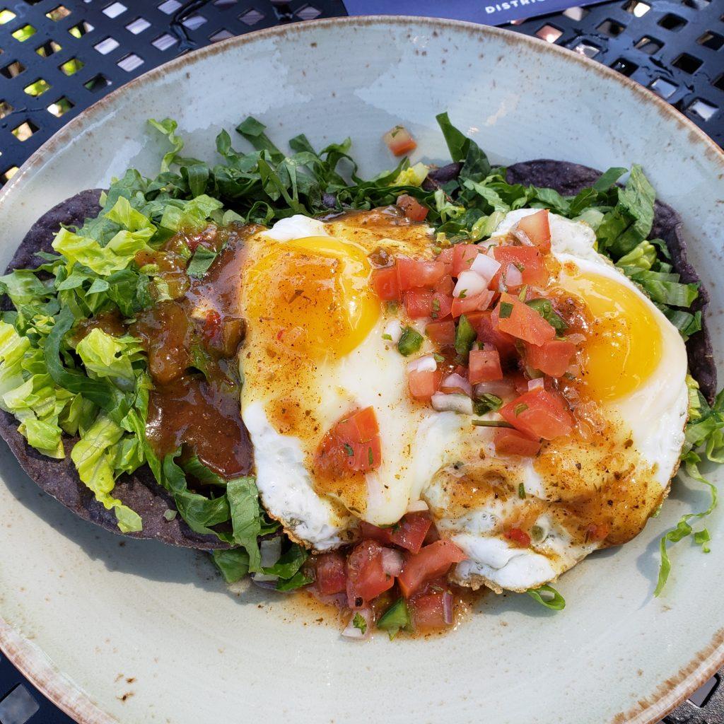 Huevos rancheros at Brookland's Finest