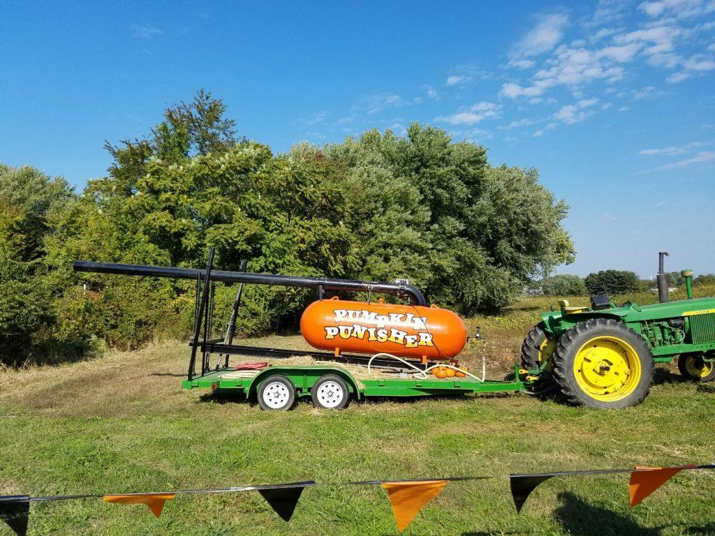 Giant pumpkin cannon