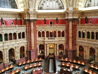 Main reading room in the Library of Congress