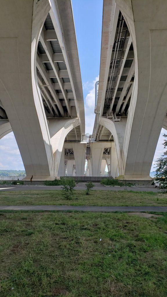 Under the Woodrow Wilson Bridge