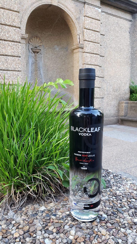 Blackleaf Vodka Bottle in park