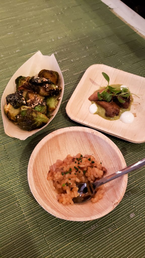 Brussel sprouts and rica tapas