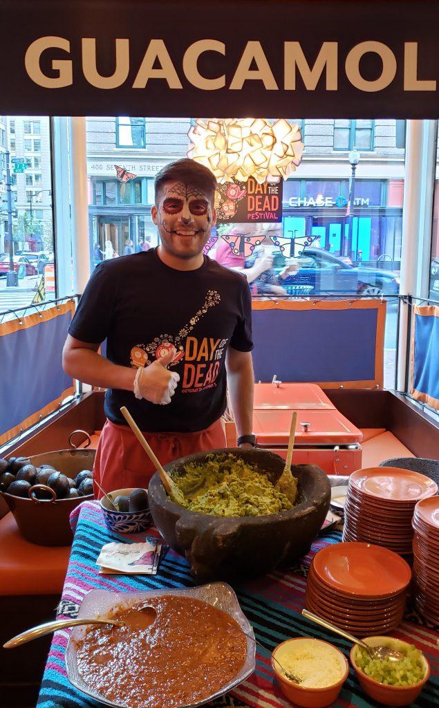 Staff making guacamole