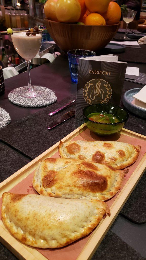 Empanadas and dip