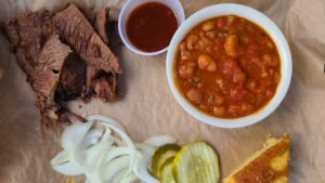 Brisket with beans